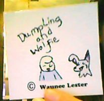 Dumpling and Wolfie Magnet by Le-Smittee