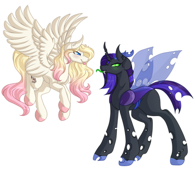 .:Commission:. Moonfury and Rose Gold by Amazing-ArtSong