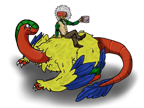 Godot and Archeops by Echidneys