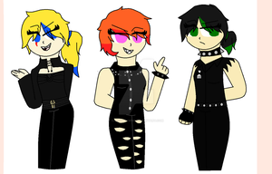 The DeathPunk Girls ( New Look ) by CandiiDrawing