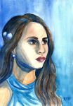 Pretty Little Liars Spencer Watercolor Painting by LoVeras
