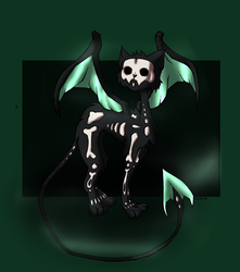 Skelly cat! by Invidia1988