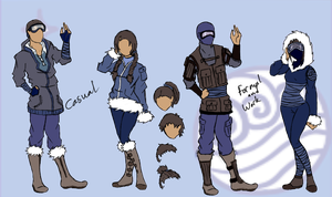 Modern Southern Water Tribe Style (For My Fanfict) by DropDeadThenDance