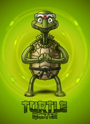 Turtle Master Digital Painting by nelutuinfo