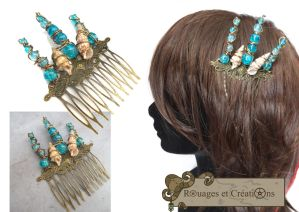 Mermaid hair accessorie by Rouages-et-Creations