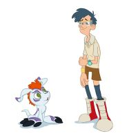 Digimon Team: Joe and Gomamon by sketchinthoughts