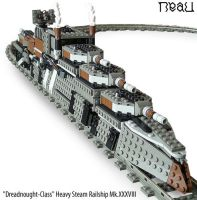 'Dreadnought' Heavy Steam Railship Mk.XXXVIII by RRaillery