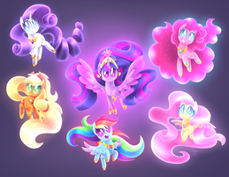 Ultimate Mane Six by siggie740