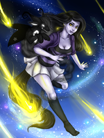Starfall [Commission] by Hanetzu