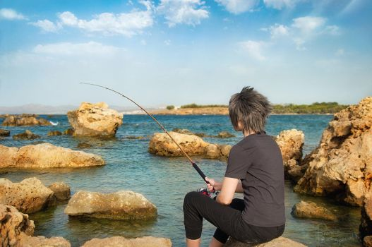 Final Fantasy XV - Noctis - Fishing time 2 by Krisild