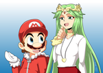 Commission - Mario and Palutena by Zero-Q
