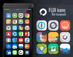 Flui icons 1.3 (Google Play) by draseart