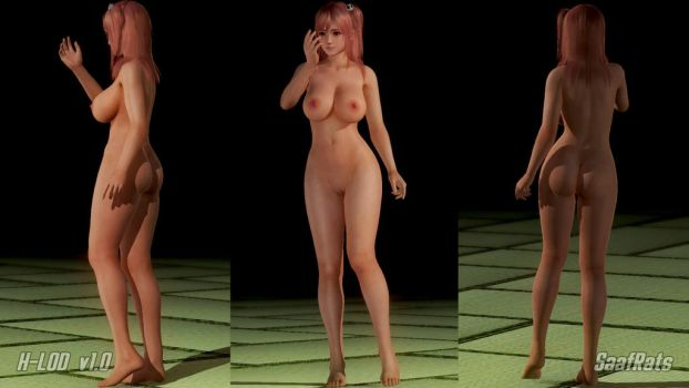 Honoka H-LOD nude model by SaafRats