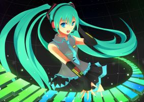 Make Your Music: Miku by Mellanthe