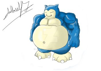 Snorlax version mucles :P by lycanursa