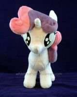 Sweetie Belle Plushie Front by WhiteHeather