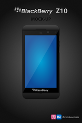 BlackBerry Z10 Mock-up PSD by IconTexto