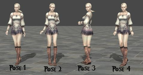 DL Fiona Belli Pose Pack by Violachanbro