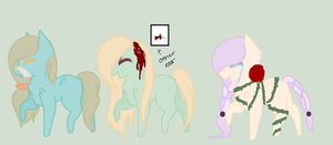 MLP Phobia Adopts [OPEN] by bruiised-knees