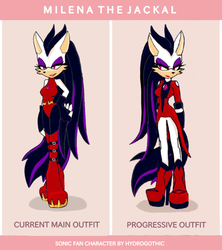 Milena the jackal outfit by HydroGothiC