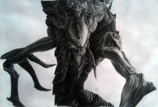 Hydralisk pencil drawing by charlie733