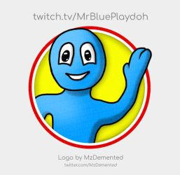 Logo for MrBluePlaydoh by MzDemented