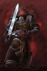 Deathwatch space marine captain. by markador
