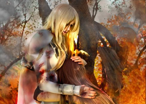 Claymore Cosplay teresa and clare by theskyshushis