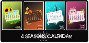4 seasons calendar by xwaNiex