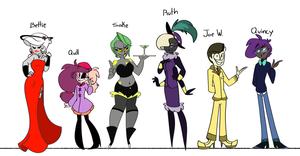 Side Character Lineup by Miss-Zi-Zi