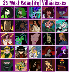 25 Most Beautiful Villainesses by JohnMarkee1995