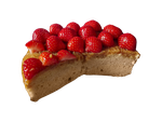 Cake with strawberries - Free png stock by DinowCookie