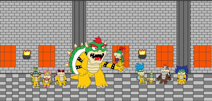 Bowser's Family...and the Koopalings by WackyWaifuWatcher