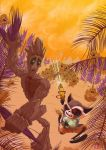 Rocket and Groot by Juggertha