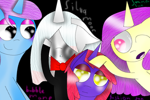BM,SM,FF and SS by theshadowpony357