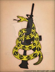 Gadsden Snake Rifle Tattoo by hassified