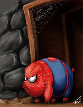 Spiderpig by WEAPONIX
