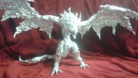 Ancient Wyvern - Aluminum Foil Sculpture by TheFoilGuy