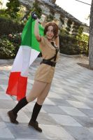 A small world - Fem!Italy cosplay by Voldiesama