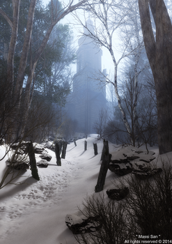 The Snowy Path To The Old Church by Massi-San