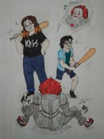 Art Trade - Welcome to the Losers club! by Linadoon