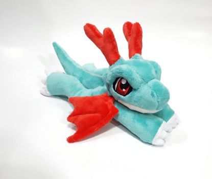 Digimon - Dracomon beanie custom plush  - for sale by Kitamon