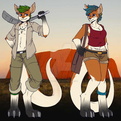 The Roo Twins Cooper and Lanna Walker by computerfreak