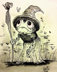 Drawtober 02.Frog Witch by Rednon