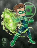 Lil Green Lantern 3D by lordmesa