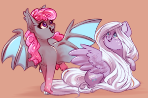 Sugar bat ponies by Segraece