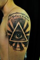All-seeing eye tattoo by thick-mcrunfast