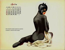 Vintage Pin-up Catwoman by VooDooDad