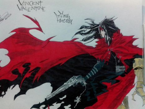 Vicent Valentine / Final Fantasy by HBitwill