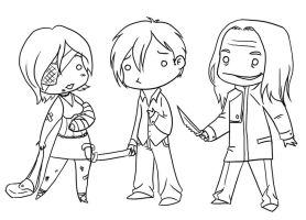 Silent Hill 4 The Room chibis by GlamourKat